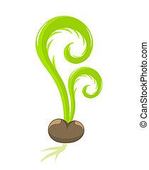 lente, kiemplant