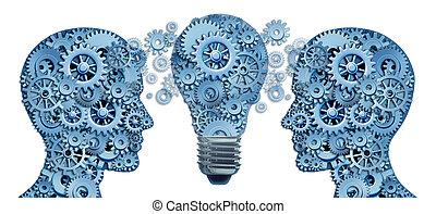 leren, lood, strategie, innovatie