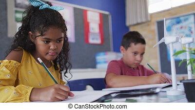 leren, schooljeugd, over, anders, energie, wind, bronnen, vernieuwbaar, macht