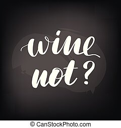 lettering, bord, not., chalkboard, wijntje