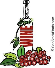 lettering, illustratie, wijntje