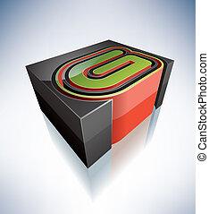 letters:, g, 3d