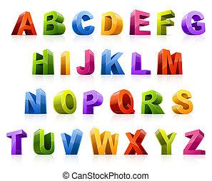 lettertype, kleurrijke