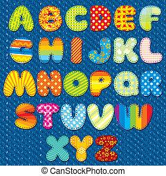 lettertype, met de hand gemaakt, steken