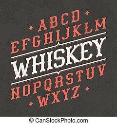 lettertype, ouderwetse
