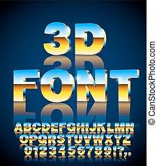 lettertype, vector, 3d