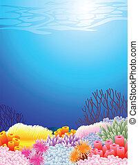 leven, zee, achtergrond