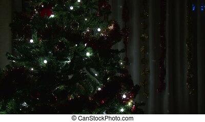 levend, boompje, kamer, kerstmis