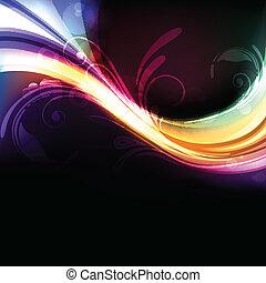 levendig, abstract, kleurrijke, helder, vector, achtergrond