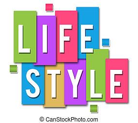 levensstijl, kleurrijke, strepen