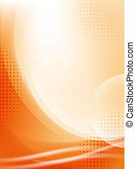 licht, abstract, halftone, achtergrond, vloeiend, sinaasappel