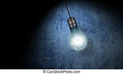 licht, het flakkeren, bol