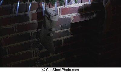 licht, kousjes, kerstman, lantaarntje