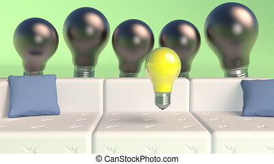 licht, motie, ontwerp, lights., minimaal, idee, minimalistic, 3d, black , concept., dekking, bol, design., beeldmateriaal, bijzonder, creatief