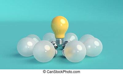 licht, motie, ontwerp, lights., minimaal, idee, minimalistic, 3d, concept., dekking, bol, design., beeldmateriaal, bijzonder, creatief