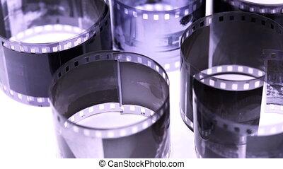 licht, negatief, oppervlakte, broodjes, black , roeren, witte , film