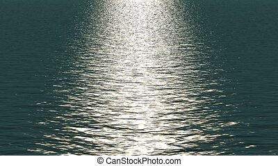 licht, witte , weerspiegelen, ocean.