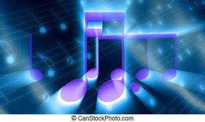 lichte stralen, muziek, lus