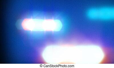 lichten, auto, politie, fonkelend
