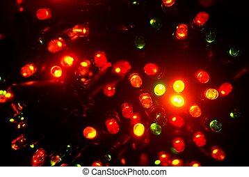 lichten, elektrisch, kerstmis