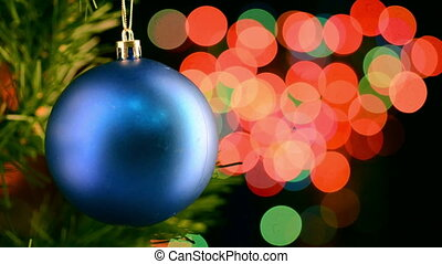 lichten, fonkelend, speelbal, kerstmis, achtergrond