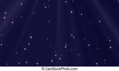 lichten, looped, sterretjes, achtergrond