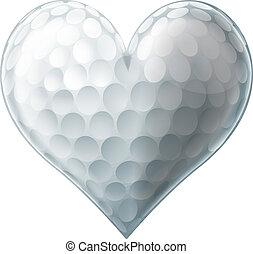 liefde, bal, golf, hart