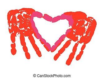 liefde, handdruk