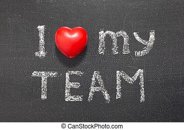 liefde, mijn, team