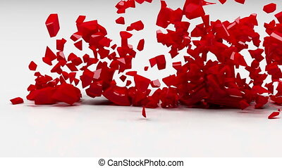 liefde, ontploffing, concept