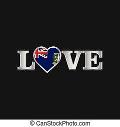 liefde, typografie, maagd, vlag, vector, ontwerp, uk, eilanden