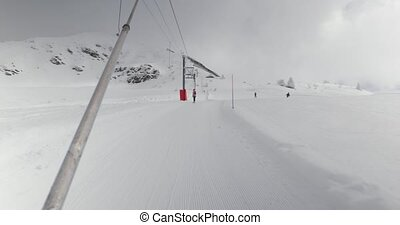 lift, het trekken, ski