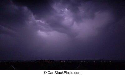 lightning, motie, zware, nacht, fantastisch, vertragen, staking, grit