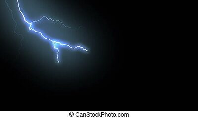 lightning, storm., achtergrond., stakingen, realistisch, video's, black , thunderbolts, animatie, 17, set, elektrisch, mooi, lus, blauwe