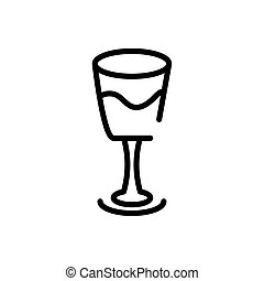 lijn, wijntje, stijl, glas, pictogram