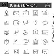 lijn, zakenbeelden