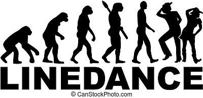 lijnen dans, evolutie
