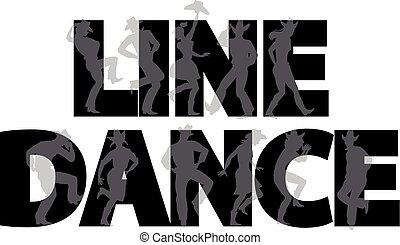 lijnen dans, spandoek