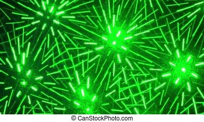 lijnen, velen, verspreide, verhuizing, laser