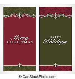 lijstjes, groot, vector, kerstmis