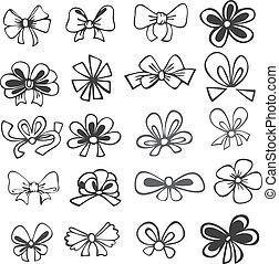 linten, witte , set, black