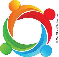 logo, anders, teamwork