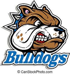 logo, betekenen, bulldog