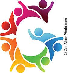 logo, brief g, mensen