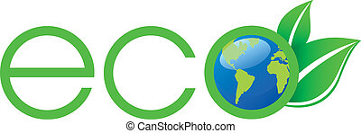 logo, ecologie, groene
