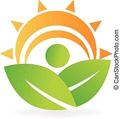 logo, energie, gezondheid, vellen, natuur