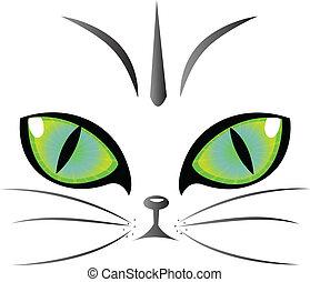 logo, eyes, vector, kat