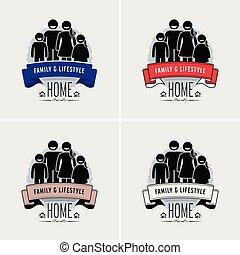 logo, familie taxeren, design.