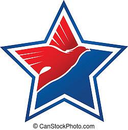logo, flag-eagle, amerikaan