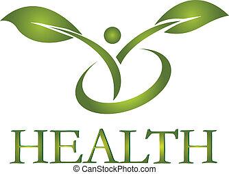 logo, gezonde , vector, leven